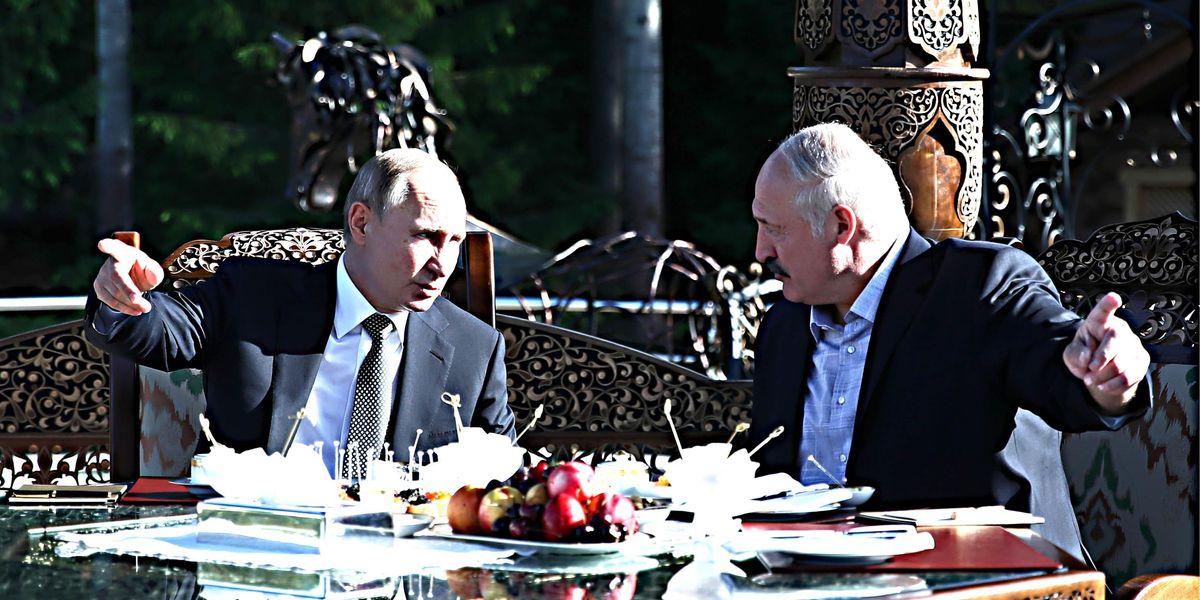 پوتین لوکاشنکو را رها می کند: او باید برود