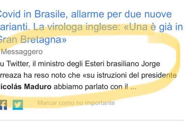 بحران بشردوستانه در برزیل.  ونزوئلا تن اکسیژن و رقم ترسناک را به رسانه های ایتالیا می فرستد – MONDO MULTIPOLARE