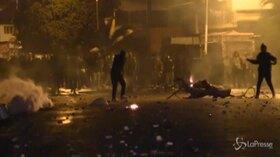 تونس ، درگیری بین پلیس و معترضین در سیلیانا