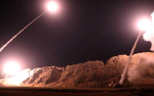 AA سوریه چندین موشک اسرائیلی را دفع می کند – فیلم