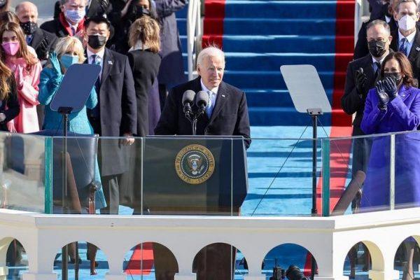 """روز افتتاحیه ، جو بایدن و کامالا هریس قسم خوردند: """"ما یک داستان امید و عدالت خواهیم نوشت"""""""