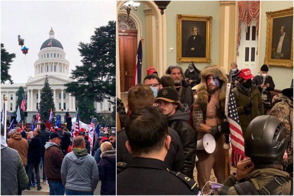 طرفداران واشنگتن و ترامپ به کنگره حمله کردند: تصویب پیروزی بایدن متوقف شد