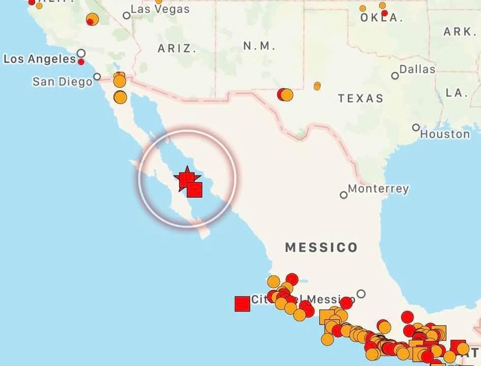 زمین در مکزیک در حال لرزیدن است: زمین لرزه ای به بزرگی 5.2 ریشتر در خلیج کالیفرنیا