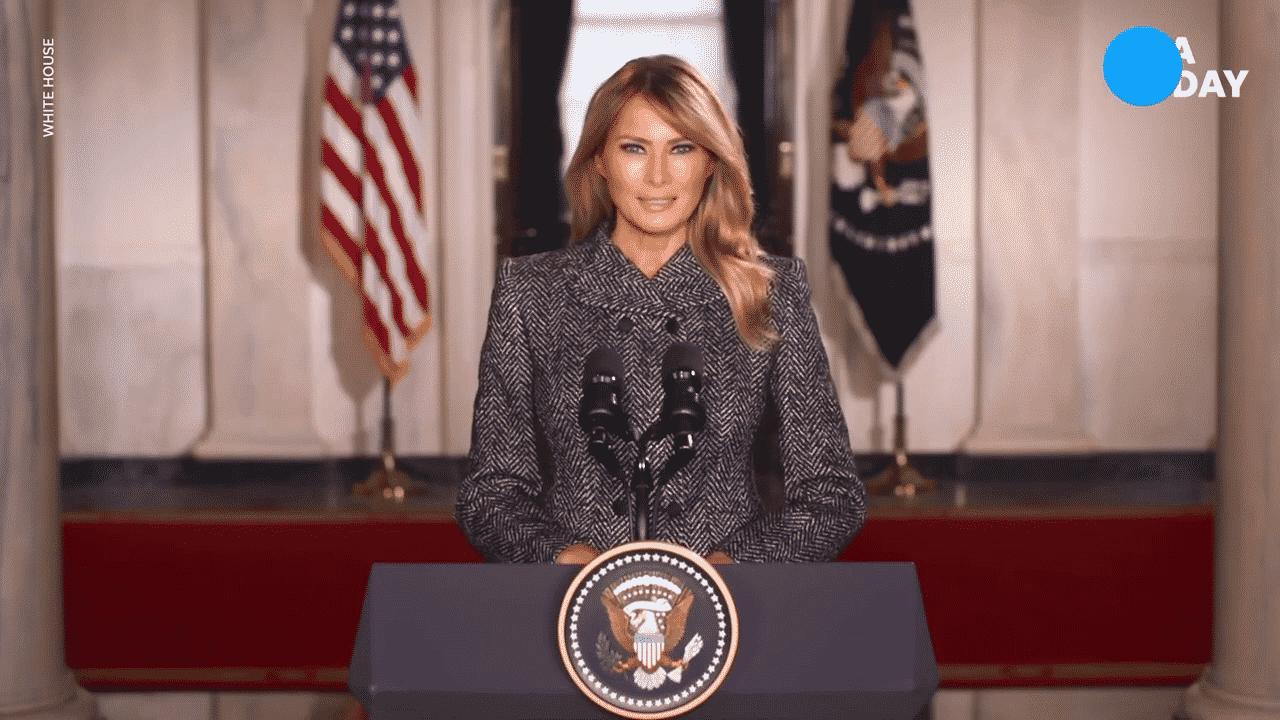 """پیام خداحافظی ملانیا ترامپ به کاخ سفید پس از چهار سال """"فراموش نشدنی"""""""