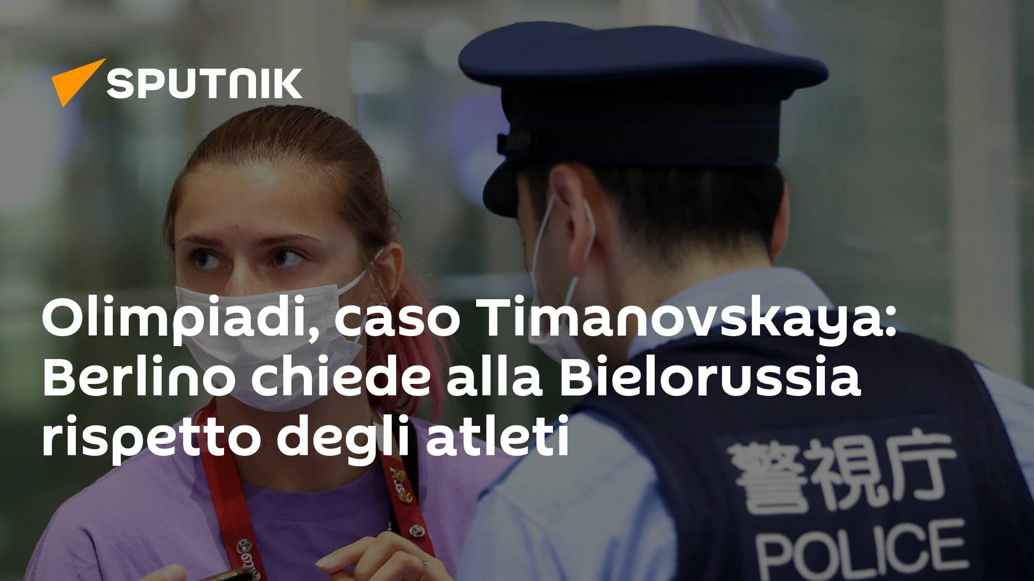 المپیک ، مورد تیمانوفسایا: برلین از بلاروس برای احترام به ورزشکاران التماس می کند